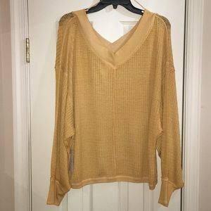 We The Free yellow/gold thermal tunic top - Size L